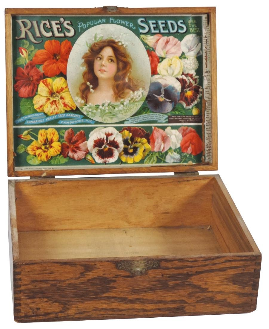 Country store flower seed box, Rice's Popular Flower