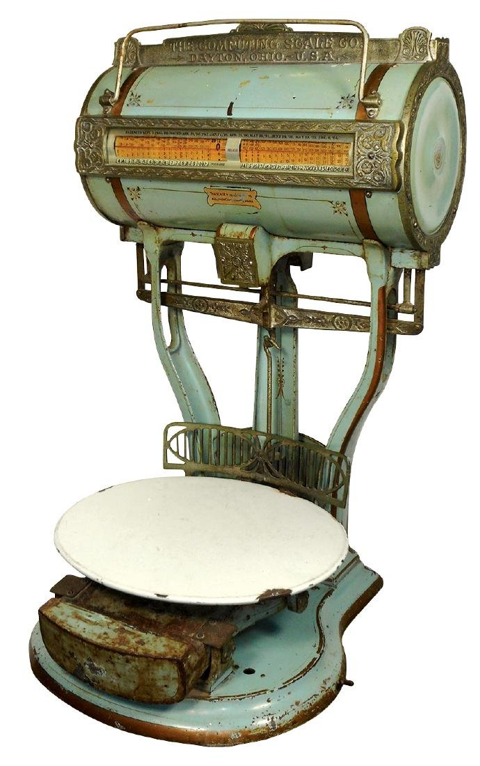 """Country store scale, Dayton """"Barrel""""-The Computing"""