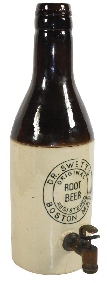 Soda fountain syrup dispenser, Dr. Swett's Root Beer,