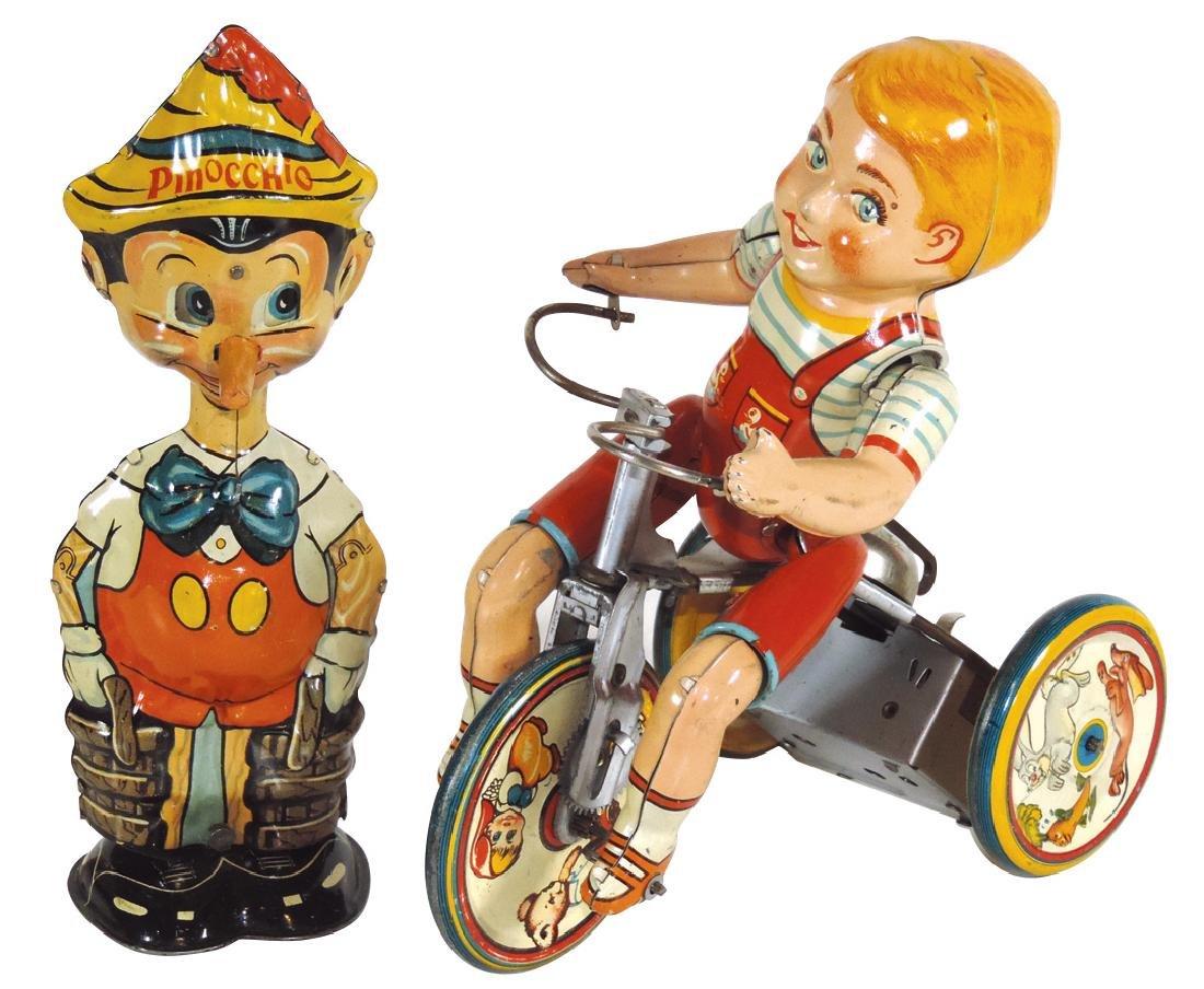 Toys (2), Marx Pinocchio walker, tin windup, c.1939,