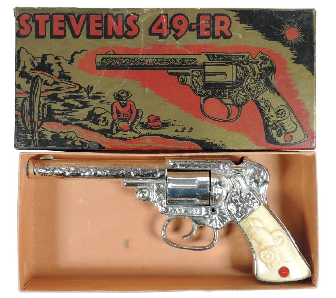 Toy cap gun, Stevens 49-ER, J.E. Stevens Co.-CT, metal,