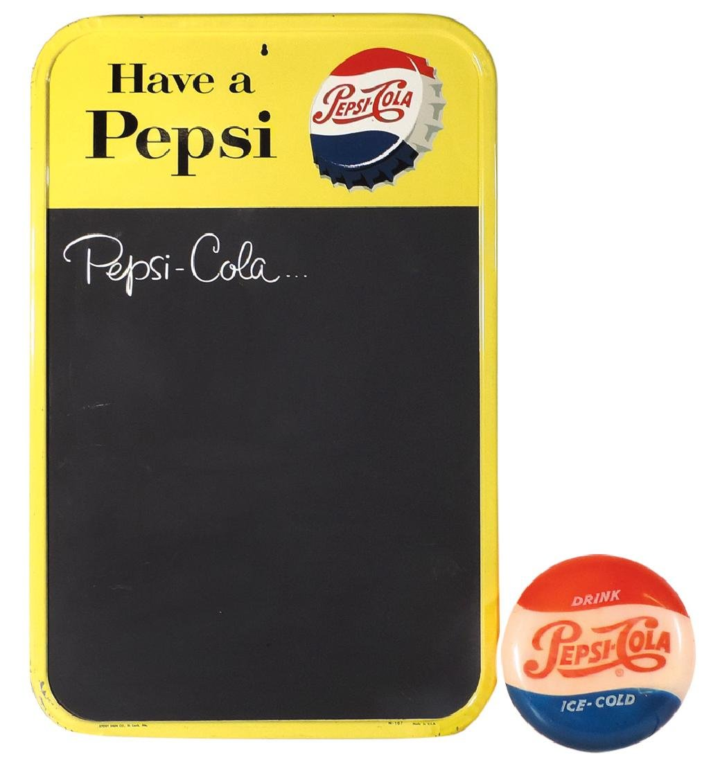 Pepsi-Cola blackboard & light-up sign, blackboard by