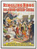 """Circus print, """"Ringling Bros Solomon and the Queen of"""