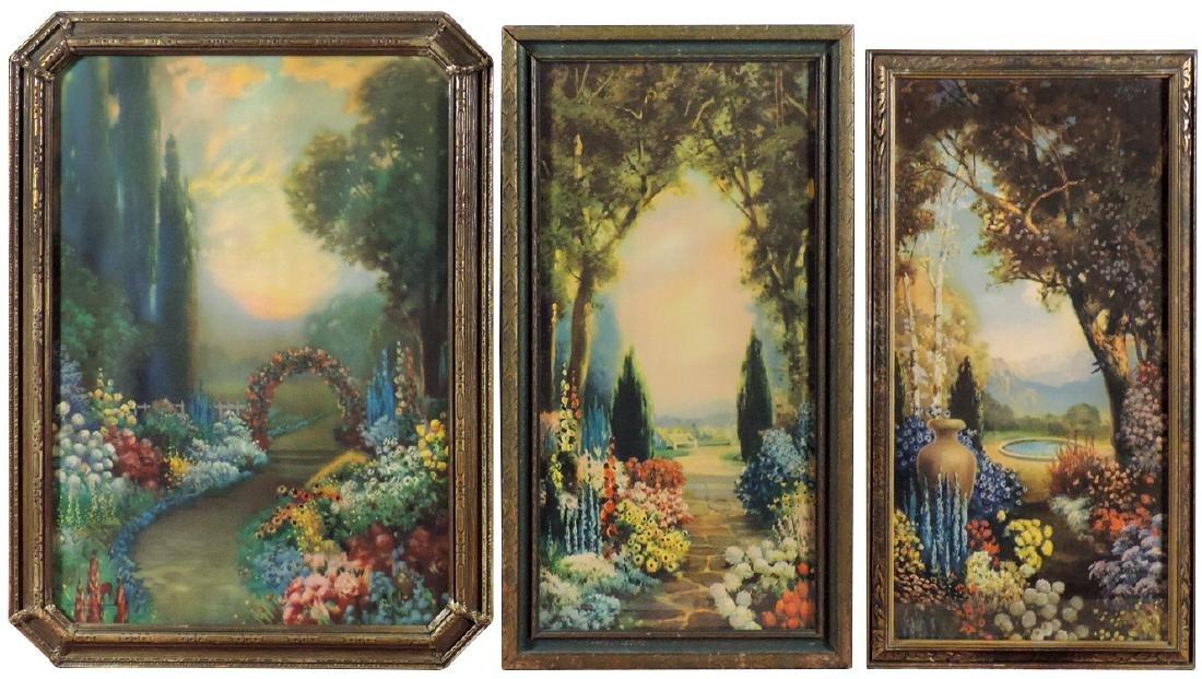 R. Atkinson Fox prints (3), Garden Realm, Garden