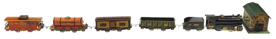 Toy trains & powerhouse, Tom Thumb Railroad, loco 990,