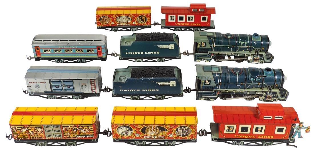 Toy trains (2), Unique Lines Circus Train #1950 engine,