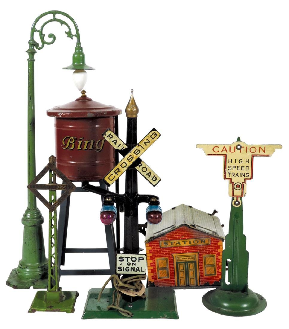 Toy train accessories (6), Katz Toys Little Dynamo