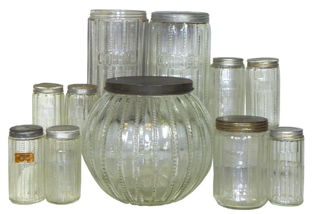 Kitchen cabinet jars (11), Zipper pattern cookie,