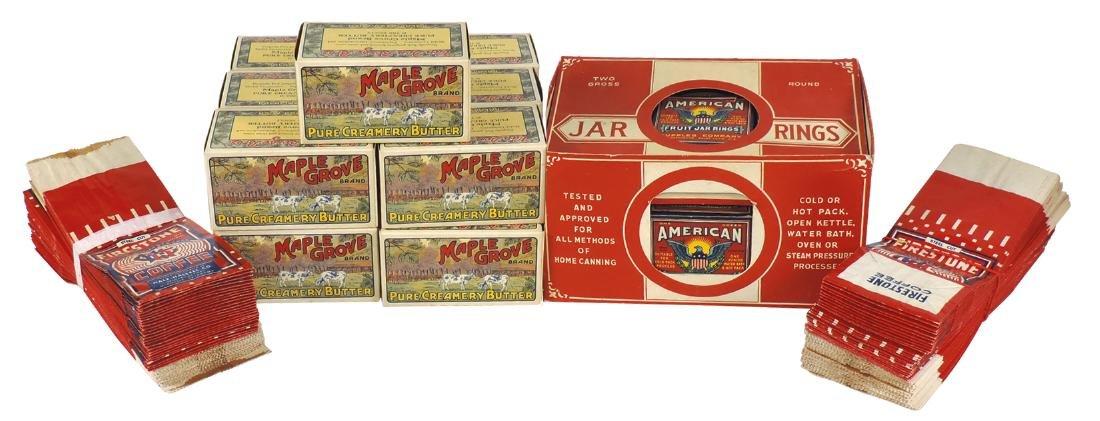 Country store shelf stock, American Fruit Jar Rings,