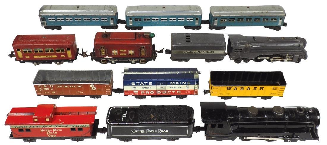 Toy trains (2), Marx loco, WAB 80982, BAR 4484, coal
