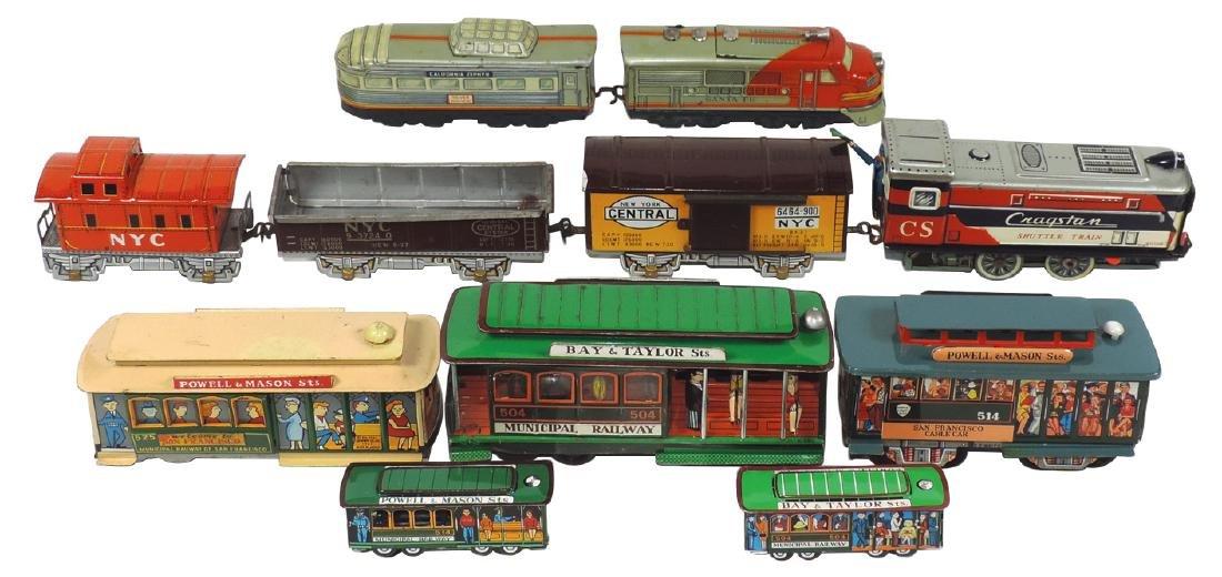 Toy trains (3), Cragstan Shuttle Train, includes loco,