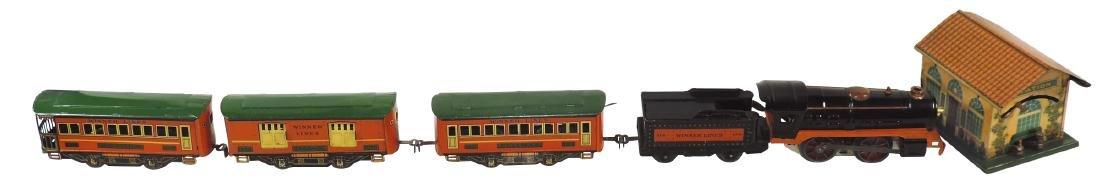 Toy train & powerhouse, Winner Lines loco, tender 1016,