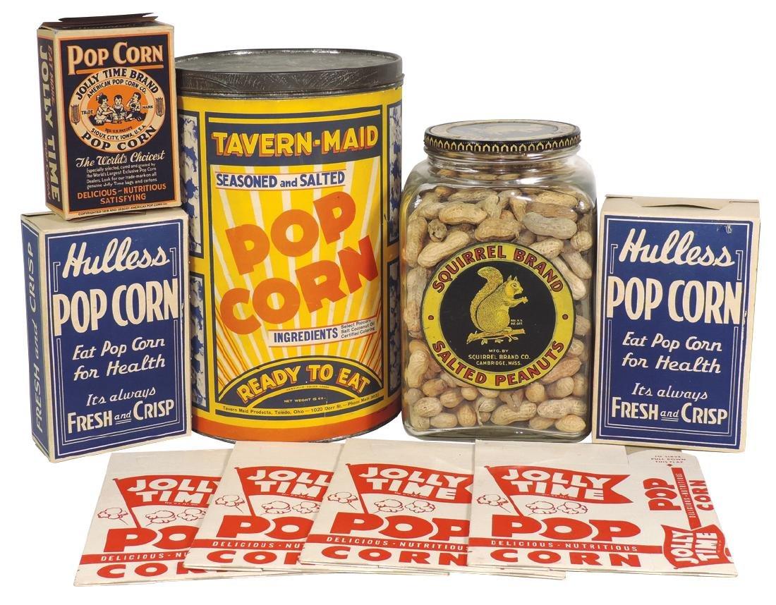 Peanut & popcorn items (9), Squirrel Brand Salted