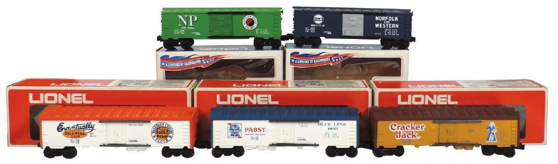 """Model train cars (5), Lionel """"O"""" gauge, 9204 Northern"""