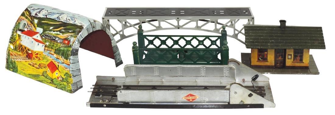 Toy train accessories, Marx tunnel, Marx Illinois