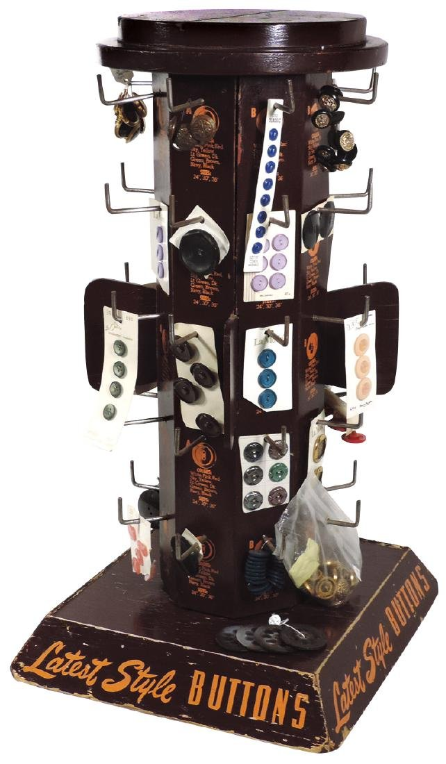 Country store button display rack, Latest Style