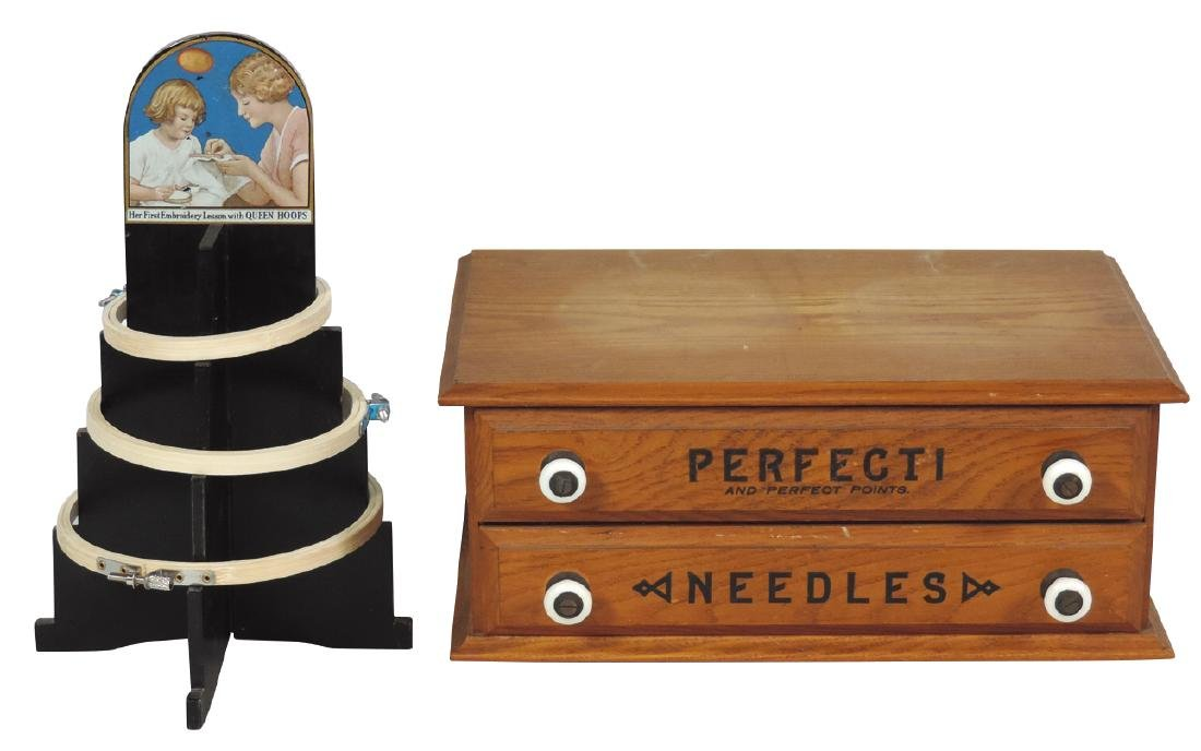 Country store needle cabinet & display (2), Perfect Nee