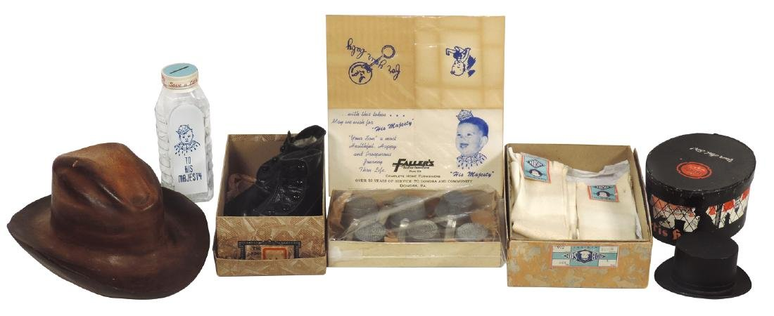 Children's items (7), 12 Children's tin sieves, NOS,