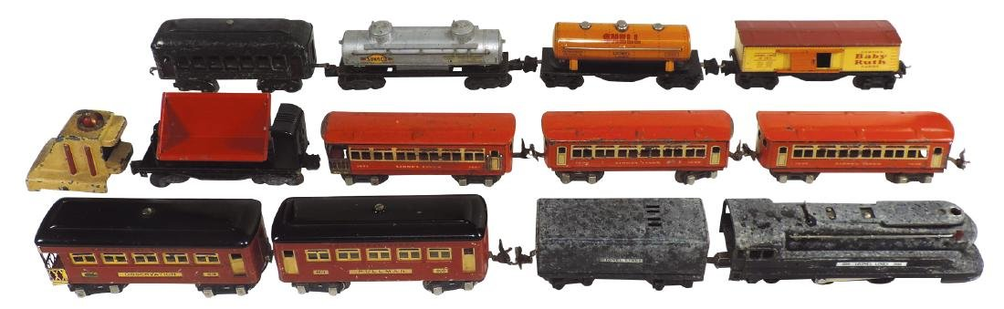 Toy trains (13 pcs), Lionel, loco 1688, coal car 1689T,