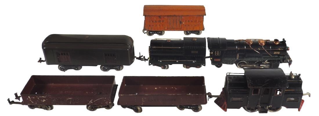 Toy trains (7 pcs), Lionel elec profile loco 33,