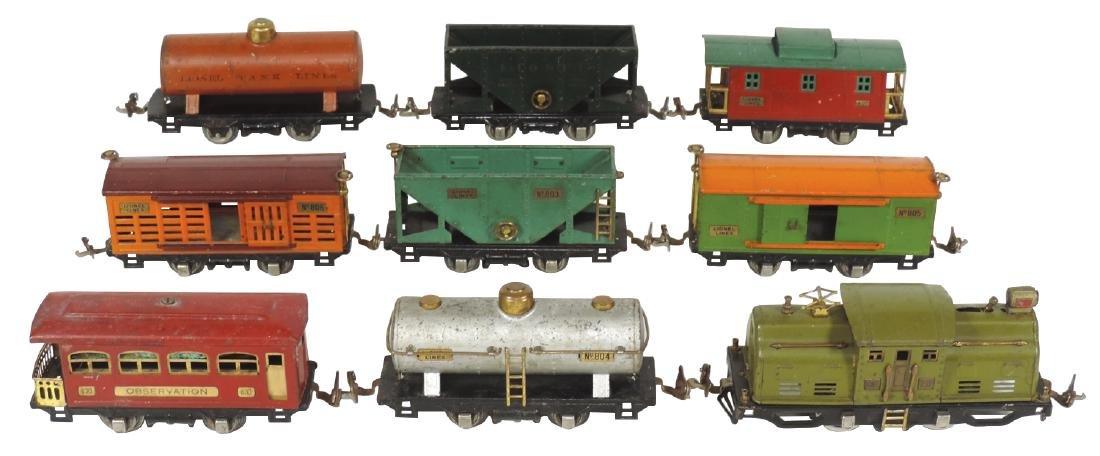 Toy train (9 pcs), Lionel #252 engine, #804, 2 #803,