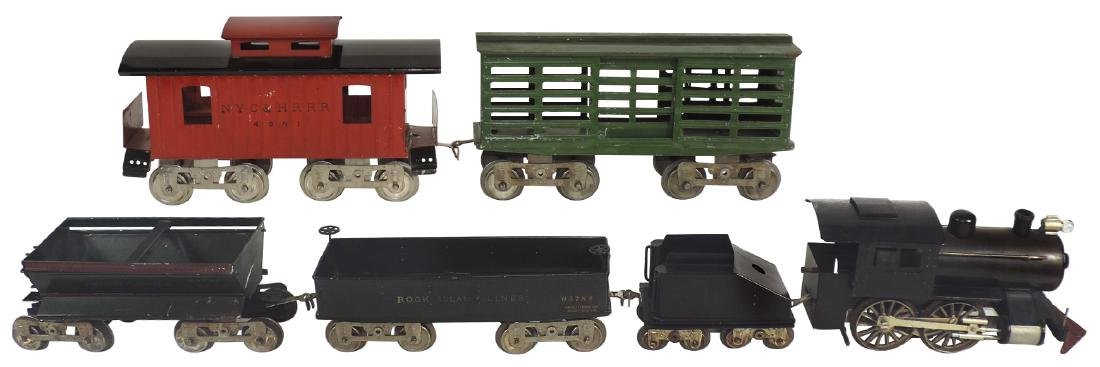 Toy train set (6 pcs), Lionel No. 5 Std gauge set, fir