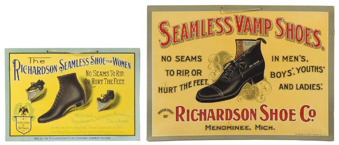 Country store shoe signs (2), Seamless Vamp Shoes from