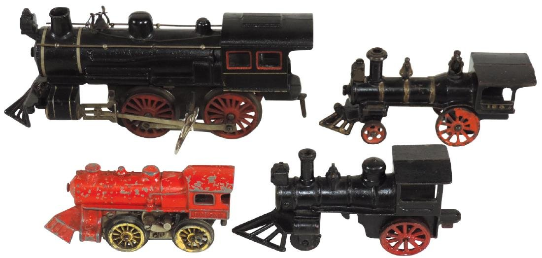 Train engines (4), Marklin, made in Germany, Dorfan