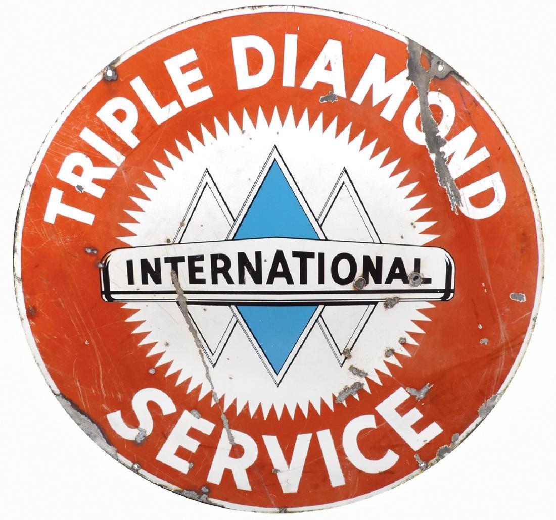 Farm equipment sign, International Triple Diamond