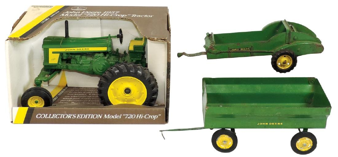 "Farm toys (3), John Deere 1957 Model ""720 Hi-Crop"""
