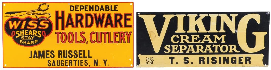 Hardware store signs (2), Dependable Hardware, Tools,