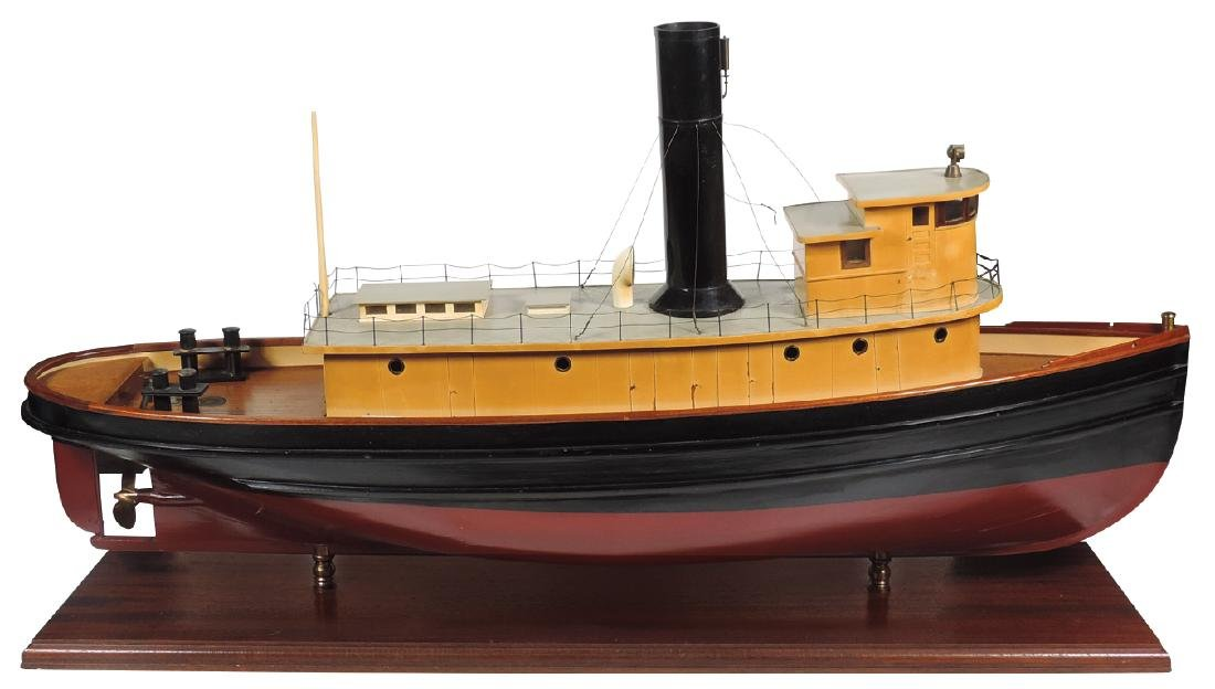 Boat, scale model tugboat, all hand-crafted plank on
