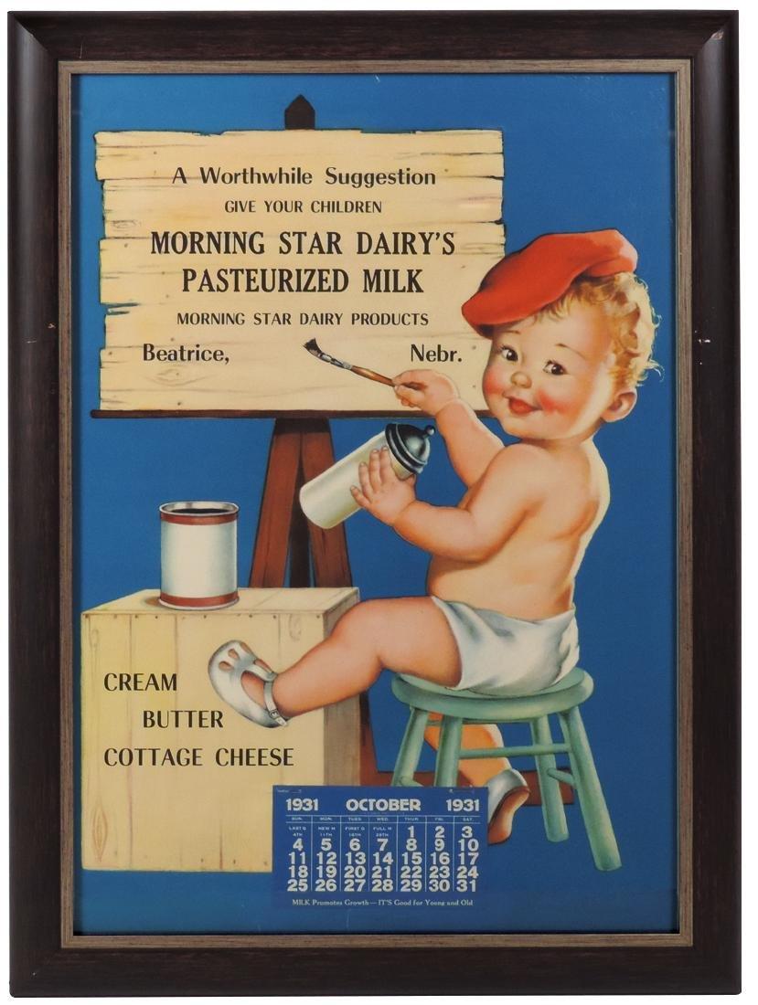 Advertising calendar, Morning Star Dairy, Beatrice, NE,