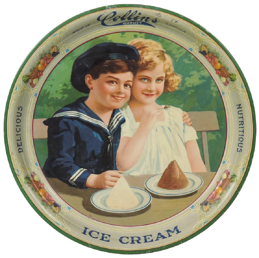Ice cream serving tray, Collins-Lincoln, NE,