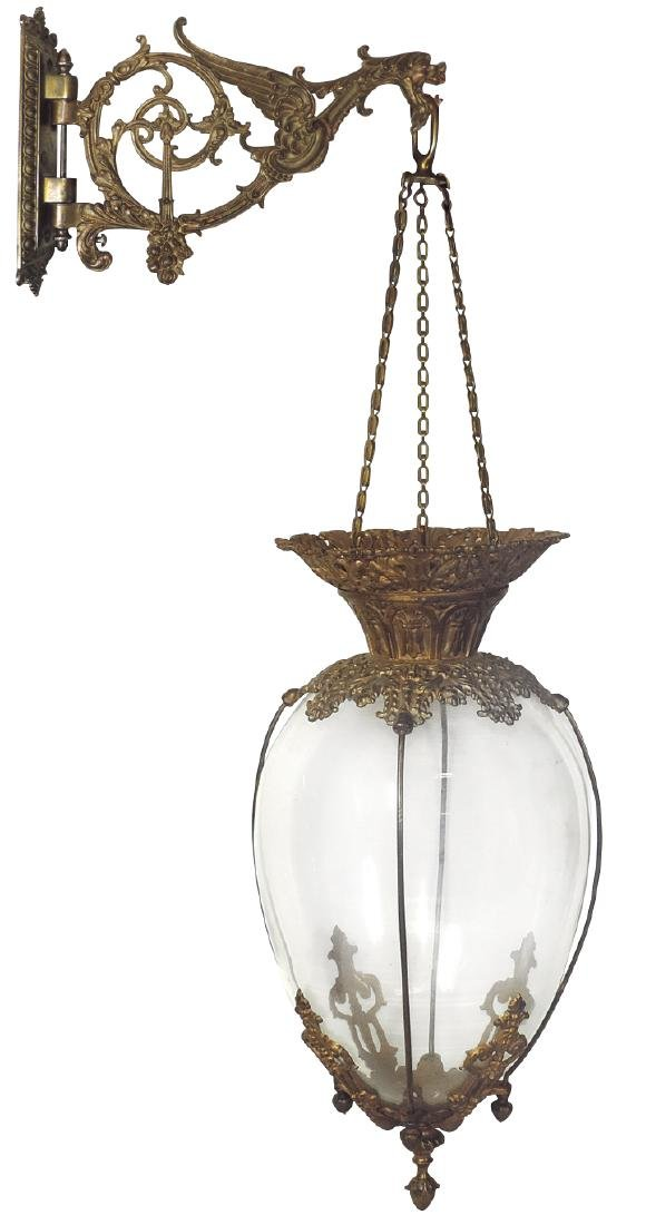 Drug store hanging apothecary show globe,