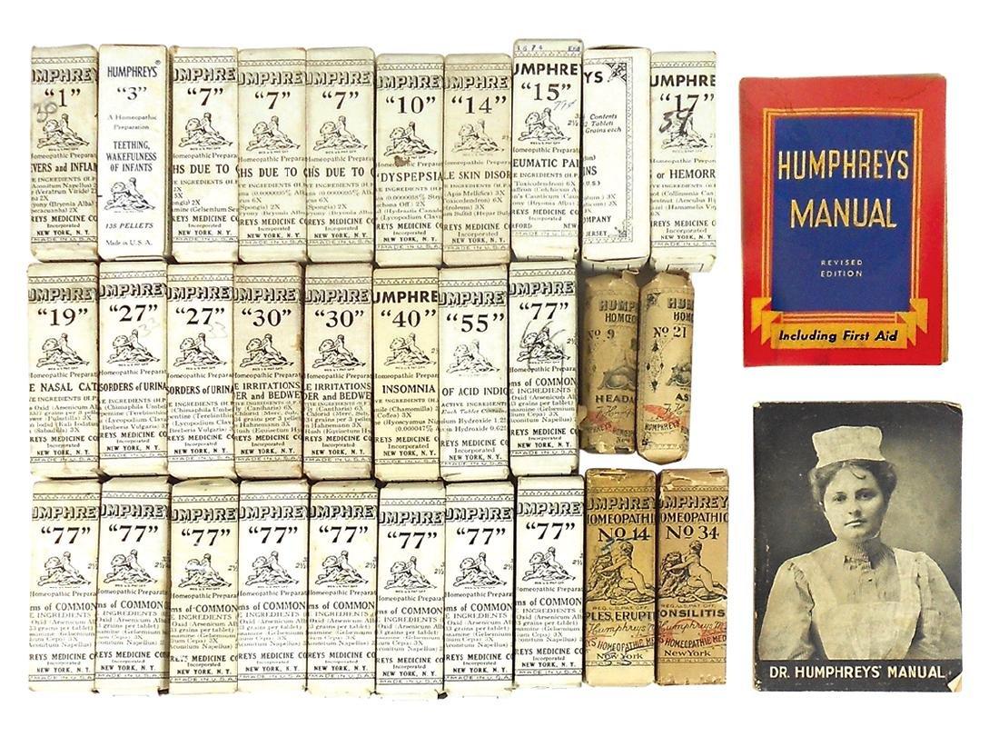 Drug store medicines & booklets (32), Humphrey's