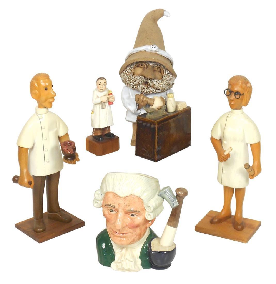 Drug store druggist figures & mug (5), Royal Doulton