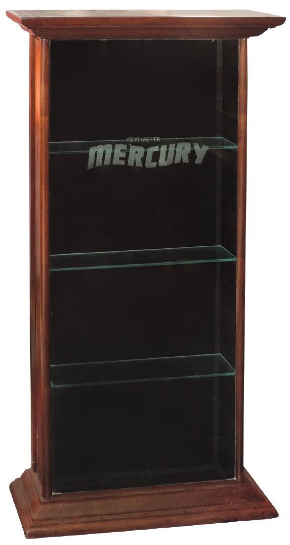 Outboard motor display cabinet, Kiekhaefer Mercury,