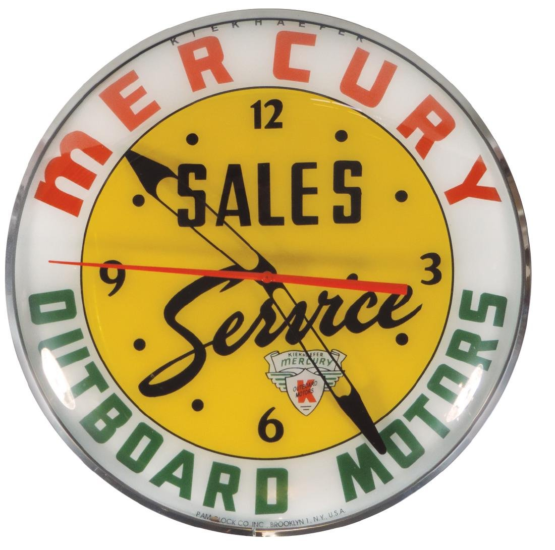 Outboard motor clock, contemporary Mercury Outboard