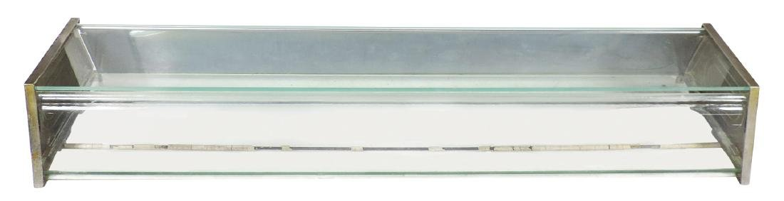 Country store pie case, glass w/nickel-plated embossed