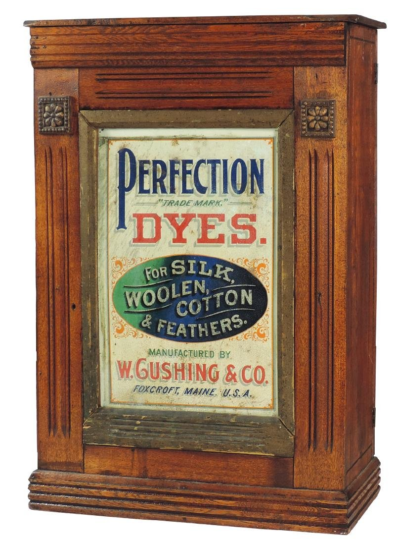 Country store Perfection Dyes cabinet, from W. Gushing