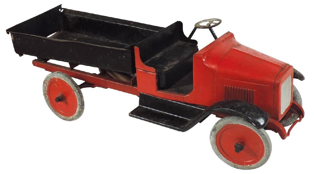 Toy truck, Buddy L Hydraulic Dump Truck, pressed steel