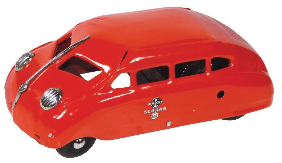 Toy car, Buddy L Scarab, pressed steel windup, Exc