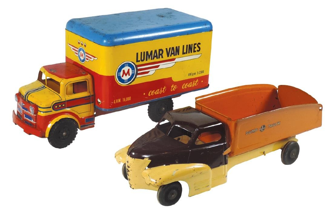 Toy trucks (2), Lumar Van Lines Delivery Truck & Buddy