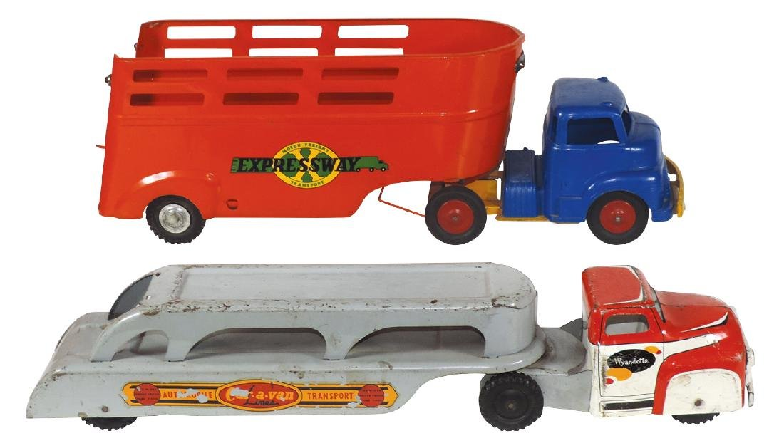 Toy trucks (2), Wyandotte Expressway Motor Freight