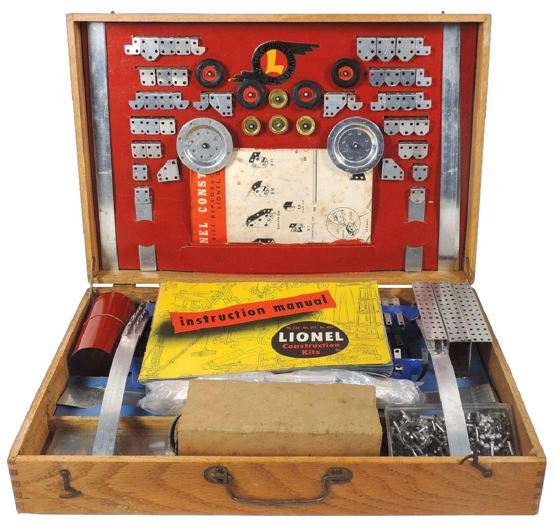 Toy construction kit, Lionel 343, complete set w/inst