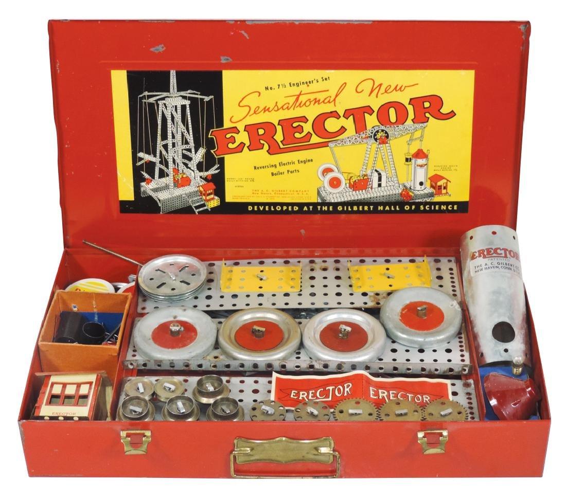 Toy Erector Set, Gilbert No. 7 1/2 Engineer's