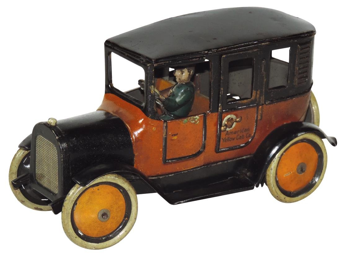Toy car, Greppert & Kelch Brandenburg, American Yellow