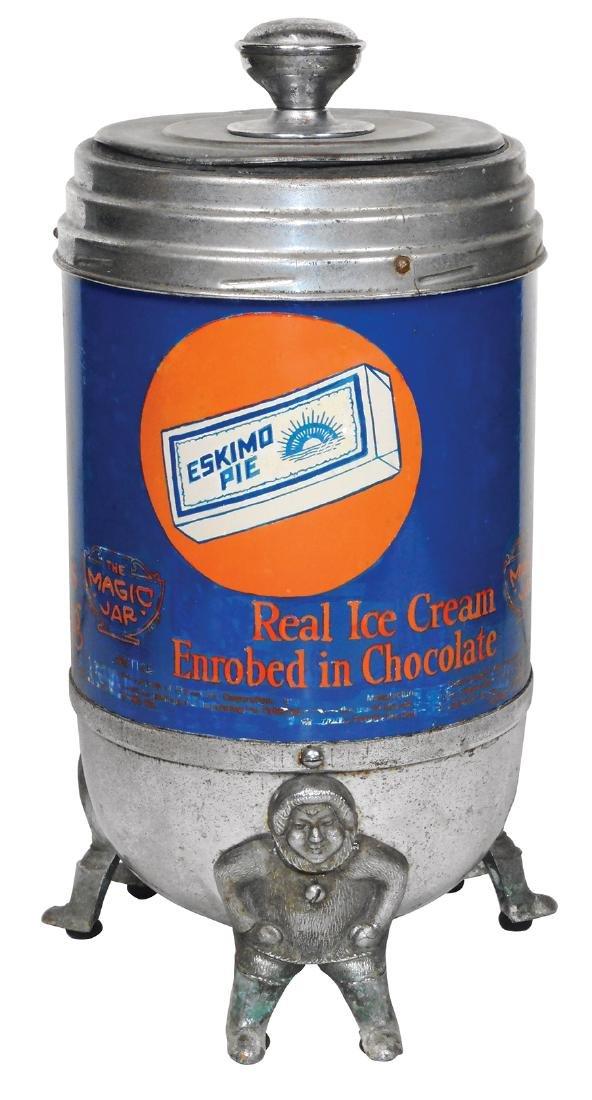 Soda fountain counter display, Eskimo Pie Ice Cream