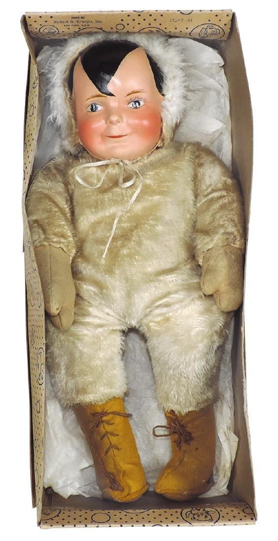 Soda pop advertising doll, Cliquot Club Eskimo, Rare,